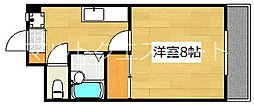 サンライズ日本[5階]の間取り