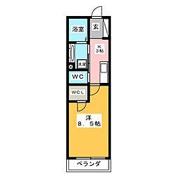新築ベレオ刈谷駅北[2階]の間取り