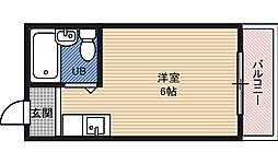 コレクション関目弐番館 5階ワンルームの間取り