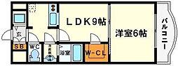 ノルデンタワー新大阪アネックス A棟[10階]の間取り