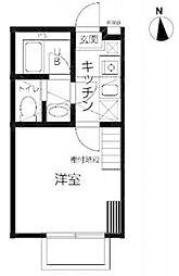ユーフラット天王台[202号室号室]の間取り
