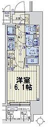 スワンズシティ大阪城ノース 7階1Kの間取り