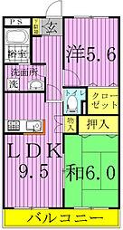 ピュアグリーン四季A・B[1303号室]の間取り