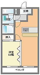 オークマンション小田急相模原[0502号室]の間取り