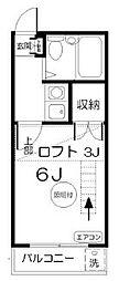 埼玉県川口市元郷2丁目の賃貸アパートの間取り