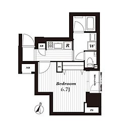 オープンレジデンシア銀座二丁目[1階号室]の間取り