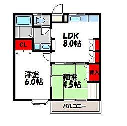 光コーポ[2階]の間取り