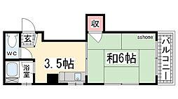 シャトー上野[302号室]の間取り