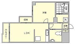 パインヒルズ美野島[3階]の間取り