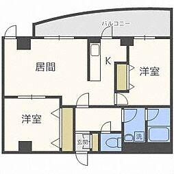 北海道札幌市西区八軒八条東5丁目の賃貸マンションの間取り