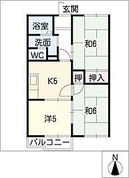 エクセル北邸B[2階]の間取り