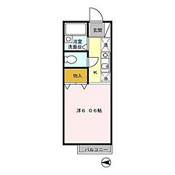レスポワールS[1階]の間取り