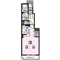 大阪府堺市西区鳳北町5丁の賃貸アパートの間取り