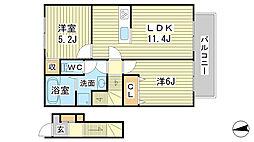 仮称)豊田様新築工事 B棟[2階]の間取り