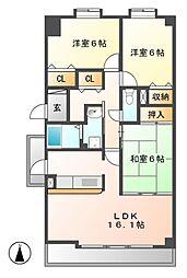 リーフマンショングロリアス[5階]の間取り