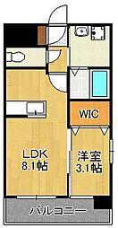 U's Residence木町 7階1LDKの間取り