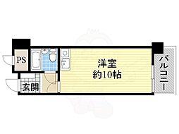 JR東海道・山陽本線 吹田駅 徒歩21分の賃貸マンション 3階ワンルームの間取り