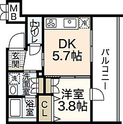 CHANCE komachi[3階]の間取り