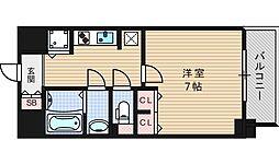ジアコスモ江戸堀パークフロント[2階]の間取り