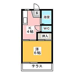 コーポ2・2[1階]の間取り