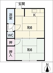 八幡荘[2階]の間取り