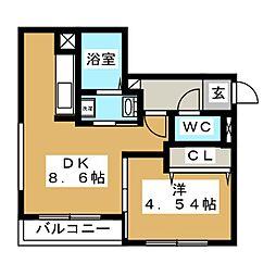 erys hiragishi[2階]の間取り