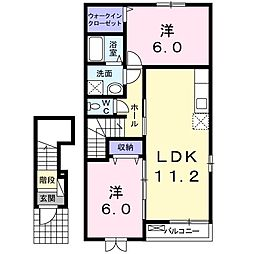 ガーデニア Ⅰ[2階]の間取り