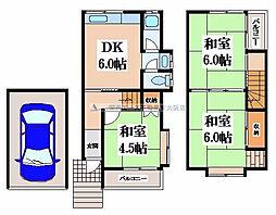 [一戸建] 大阪府八尾市上尾町3丁目 の賃貸【/】の間取り