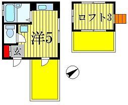 メゾン・リネアリス[4階]の間取り