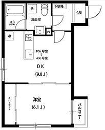 神奈川県川崎市幸区中幸町4丁目の賃貸アパートの間取り