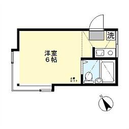 アーバンハウス中野島[203号室]の間取り