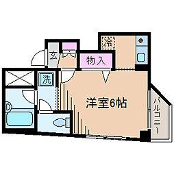 神奈川県横浜市港北区菊名1丁目の賃貸マンションの間取り