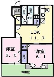 フォレストール2番館[1階]の間取り