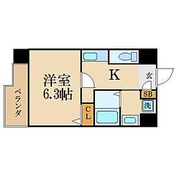 愛知県名古屋市中区上前津1丁目の賃貸マンションの間取り