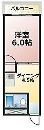 ラポール淡路[3階]の間取り
