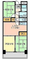 福岡県福岡市中央区鳥飼1丁目の賃貸マンションの間取り