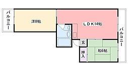 メイプル甲子園[403号室]の間取り