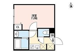 ルミエール・リッシュ松江[203号室]の間取り