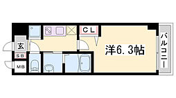 グランカリテ神戸WEST[2階]の間取り
