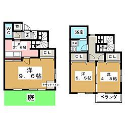 [テラスハウス] 宮城県仙台市青葉区赤坂3丁目 の賃貸【/】の間取り
