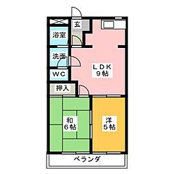 メゾンセフティー山宮[2階]の間取り