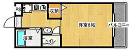 ツインホースII[205号室]の間取り