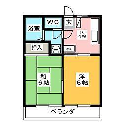エトワールハイツ[2階]の間取り