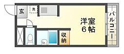 マンションオーク[2階]の間取り