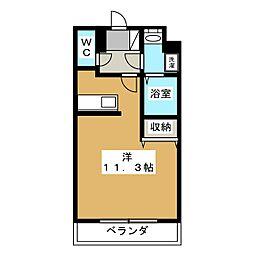 (仮称)宿郷1丁目マンション 2階1Kの間取り