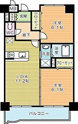 ニューシティアパートメンツ南小倉II[910号室]の間取り