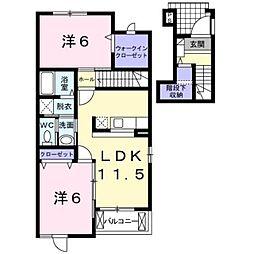ゴールデンステージ三郷 I[2階]の間取り