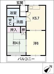 サプリーム8[1階]の間取り