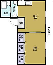 カームカト[6階]の間取り