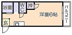 ドリームハウス[202号室]の間取り